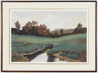 Le Clair (American, 20th c.) Eastern Pasture
