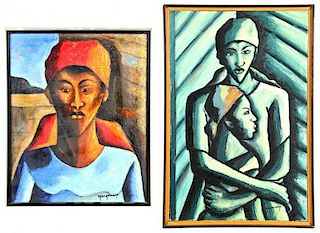 M. Desrosiers (Haitian, 20th c.) Two Paintings