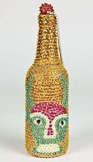 Haitian Sequined Voodoo Bottle