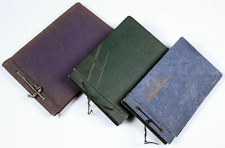 3 Early 20th c. Photo Albums