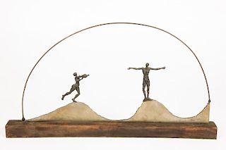 Modern Figural Metal Sculpture