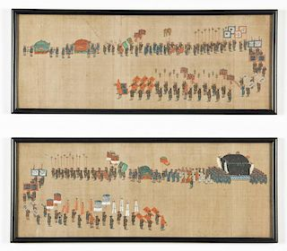 2 Chinese Processional Paintings