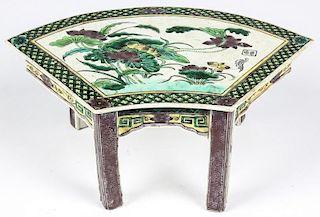 Fine Chinese Enamel Porcelain Stand, Kangxi