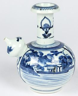 Chinese Blue and White Porcelain Ewer, Qing D.