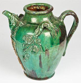 Antique Chinese Green Glaze Ewer/Vessel