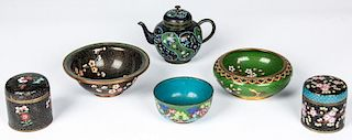 6 pc Chinese Cloisonne Collection