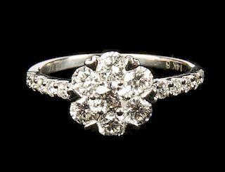 Ladies 14kt White Gold Diamond Ring