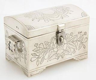 Antique Russian Silver Box w/Lock