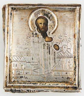 Antique Russian Travel Icon, St Michael