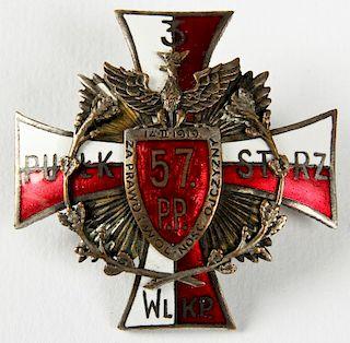 Polish Enamel Badge, PiЃ_sudski Era (1919)