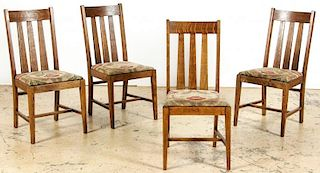 4 Mission Style Side Chairs