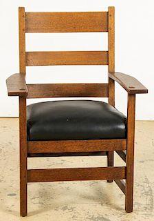 Labeled L & JG Stickley Armchair