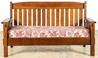 Harden Arts and Crafts Settee