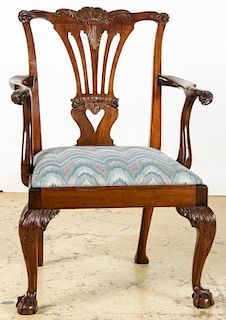 Antique Philadelphia Chippendale Armchair, 18th C.