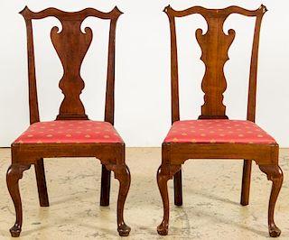 Two 18th C. Philadelphia Walnut Side Chairs