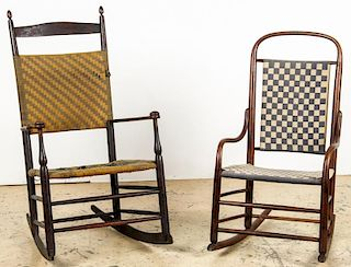 2 Antique Shaker and Bentwood Rockers