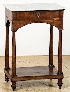 Antique American Marble Top Stand