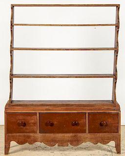 Antique Pewter Rack