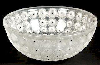 Signed Lalique Nemours Center Bowl