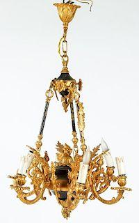 Bronze Hanging Chandelier