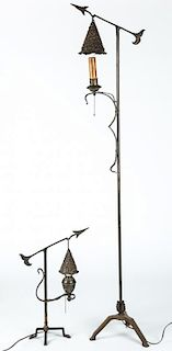 Pair of Arts and Crafts Lamps