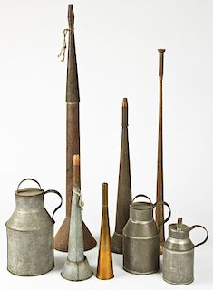 Group Antique Tin Wares