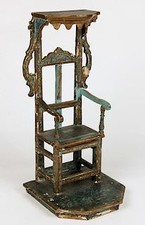 Santo Nino de Atocha Throne Chair