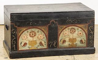 American Paint Decorated '1878' Blanket Chest