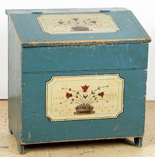 Paint Decorated Wood Box, New England