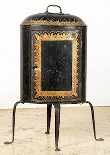 Antique Toleware Plate Warmer