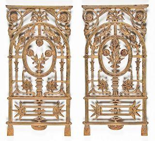 2 Architectural Cast Iron Panels