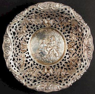 German 800 Silver Repousse Bowl, 315 g
