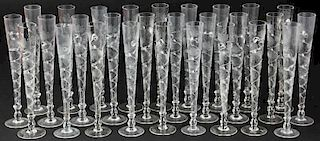28 Antique Continental Flutes
