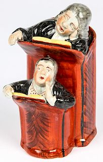 Antique Staffordshire The Vicar and Moses Figural Group