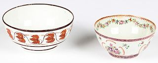 2 Antique Chinese Export Bowls