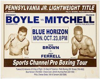Vintage 1989 Blue Horizon Poster