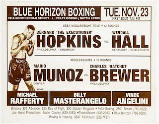 Vintage 1993 Blue Horizon Boxing Poster