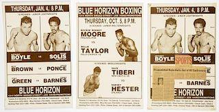 Vintage 1990 Blue Horizon Boxing Posters