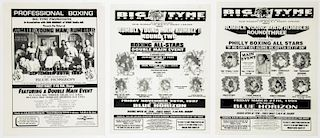 Vintage Blue Horizon Philly All Stars Boxing Posters