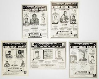 Vintage Blue Horizon Friday Night Fights Boxing Posters