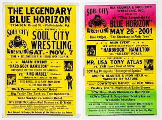 Vintage Blue Horizon Soul City Wrestling Posters