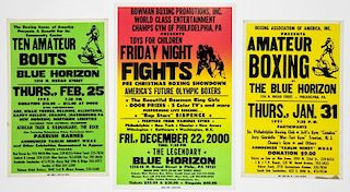 Vintage Blue Horizon Boxing Posters Posters