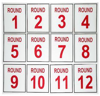 Set of 12 Blue Horizon Round Cards