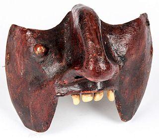 Antique Copper Mexican Festival Mask