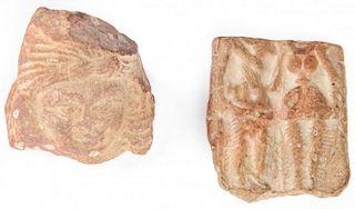 2 Mauryan or Shunga Artifacts (3rd-2nd C BCE)