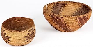 2 Native American Twined Baskets