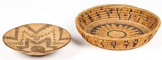 2 Native American Coiled Baskets