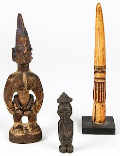 3 African Carved Artifacts