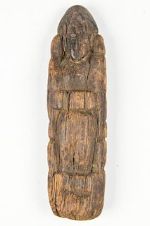 Antique South Indian Carved Wood Doll
