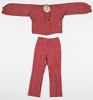 Antique Ottoman Matching Silk Jacket/Trousers
